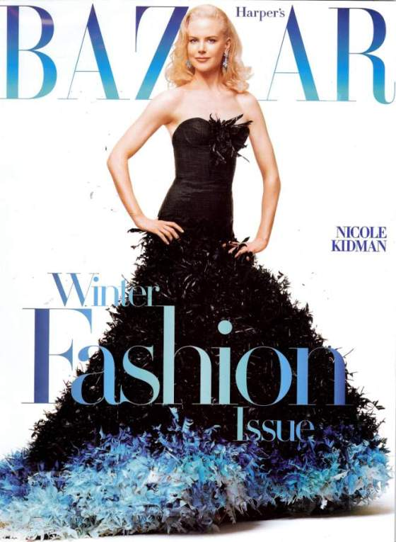 Couldn't find a runway picture - but I did find this photo of Nicole Kidman in the black version!