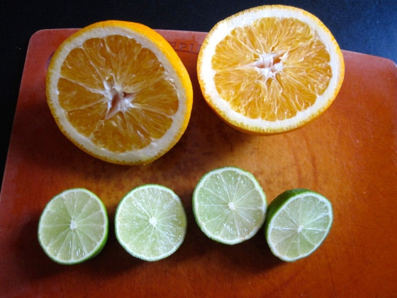Naranja agria - equal parts fresh orange and lime juice