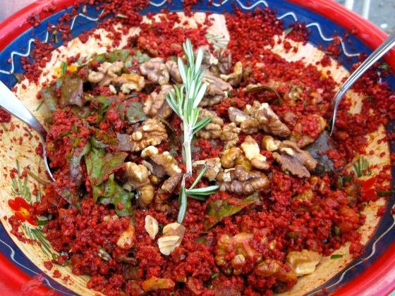 Millet salad with beets