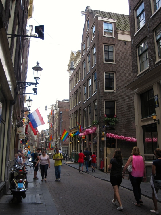 Walking back to the car - can you tell it's gay pride week in Amsterdam?