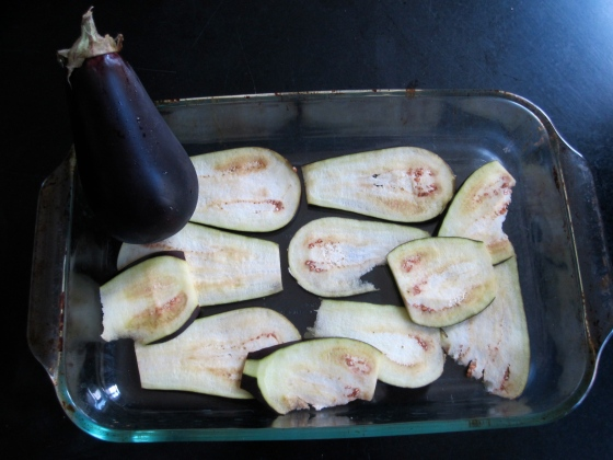 My awful eggplant slices
