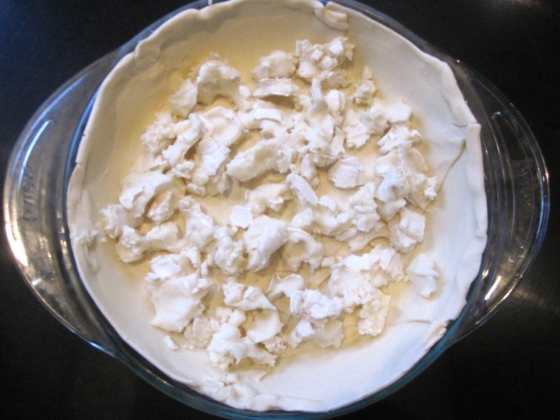 Pastry dough with goat cheese