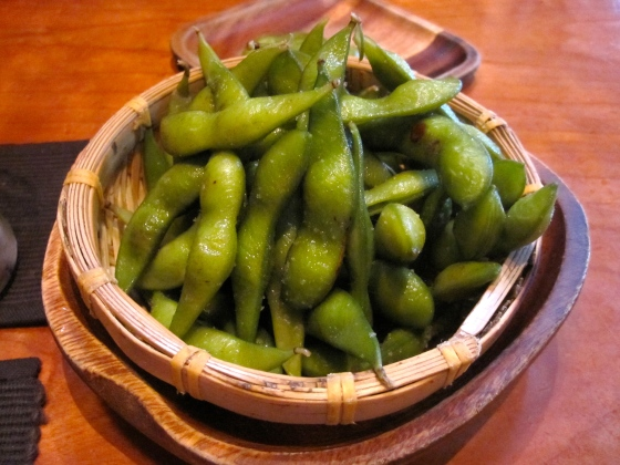 Edamame for our starter