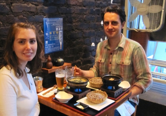 Koen and me with our soba dipping noodles
