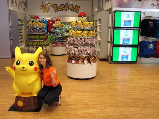 Posing with Pikachu