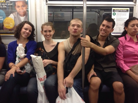Taking the metro to Central Park