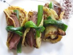 Peking Duck Inspired Pancakes with Scallions