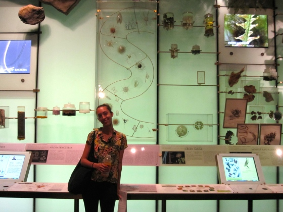 Christina in the Hall of Biodiversity