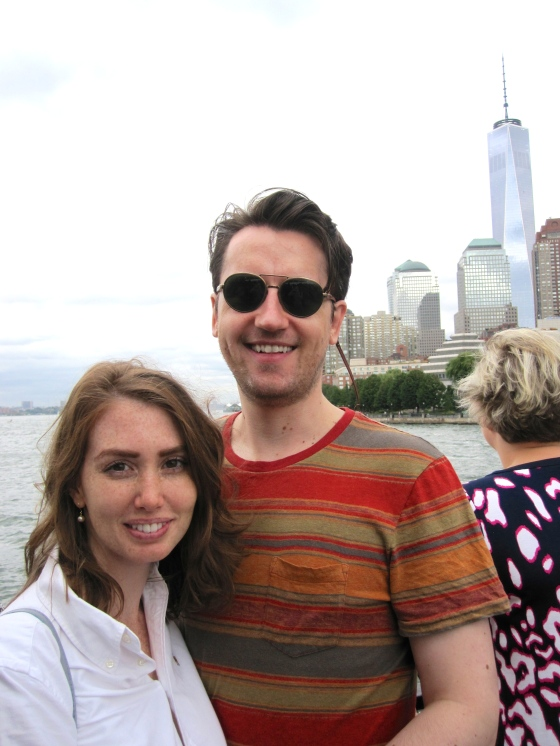 Koen and me with the Freedom Tower in the background