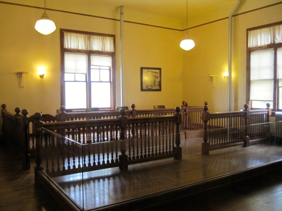 The courtroom where your case would be heard