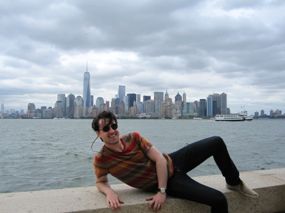 Koen with Manhattan in the background