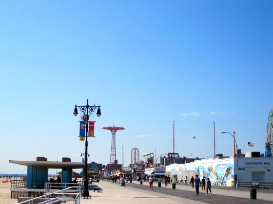 The Coney Island boardwalk