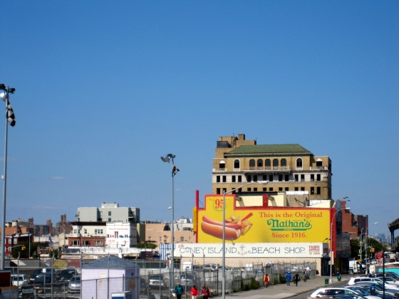 First spotting of the original Nathan's Famous