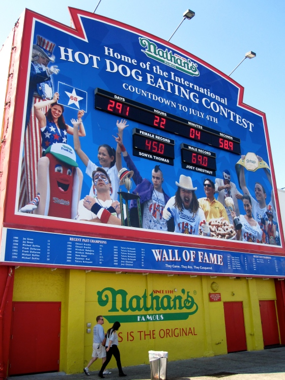 Countdown to the next hotdog eating contest