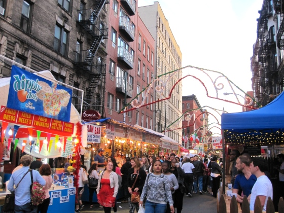 Passing through San Gennaro in Little Italy on our way to dinner