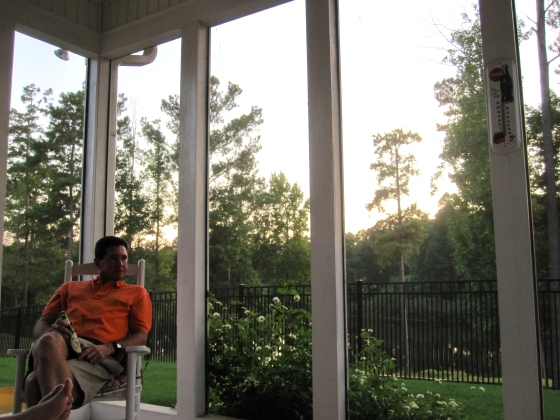 Sitting on the porch with my dad
