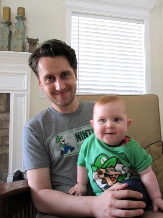 Matching Luigi shirts <3