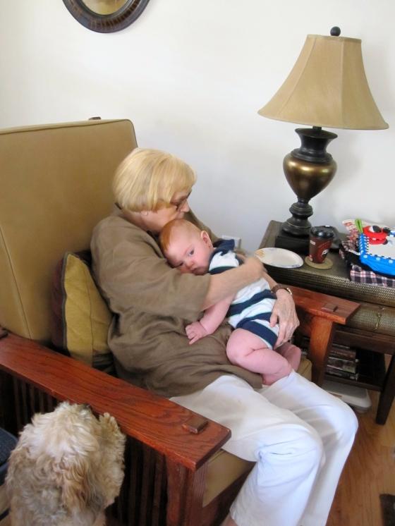 Edward with his Great Grandma