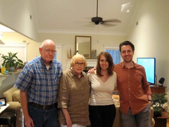 With Grandma and Grandpa