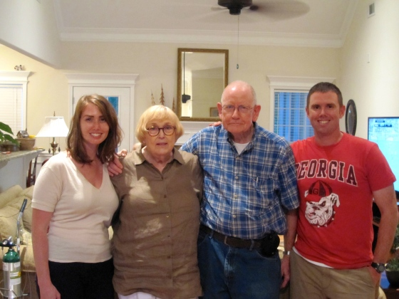 Grayson and me with Grandma and Grandpa