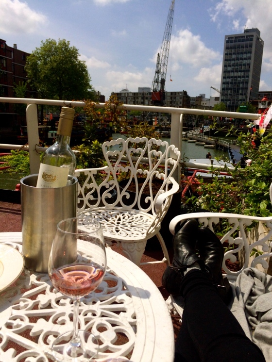 Relaxing with some rosé on the top of Vessel 11