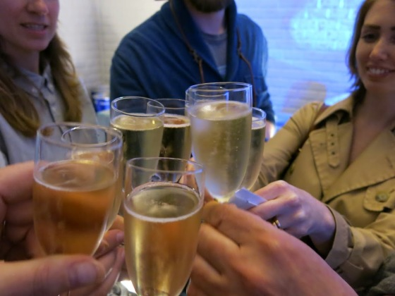 Cheers! Pommery champagne tasting!