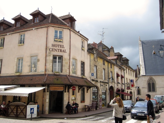 Walking through Beaune