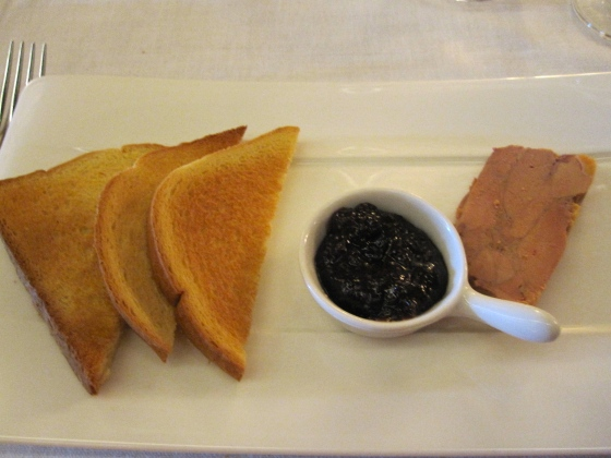 Foie gras with brioche