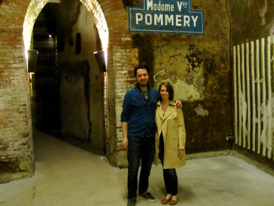 Koen and me in the cellar