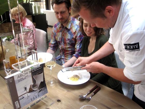 Roger Van Damme shaving summer truffle for my pasta