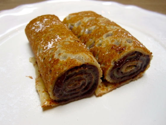 7: Pancakes with nutella