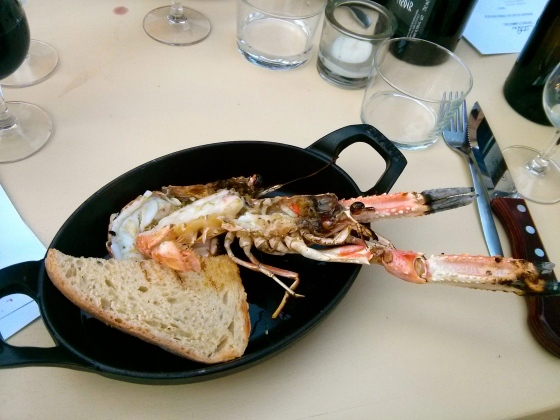 Langoustine with Sour Dough and Chives Bread