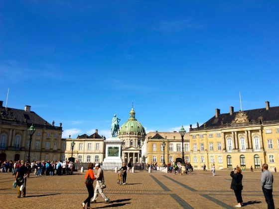 Amalienborg, the winter home of the Danish royal family