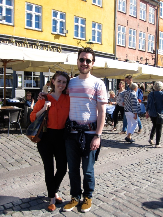 Koen and me in front of the Nyhavn