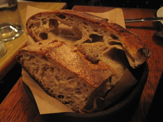 Sourdough bread to go with the dishes