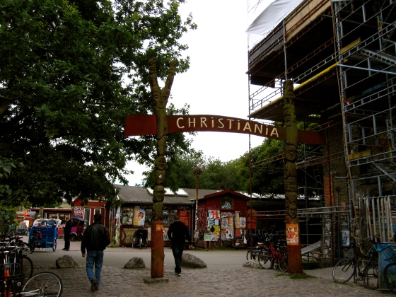 The entrance of Christiania