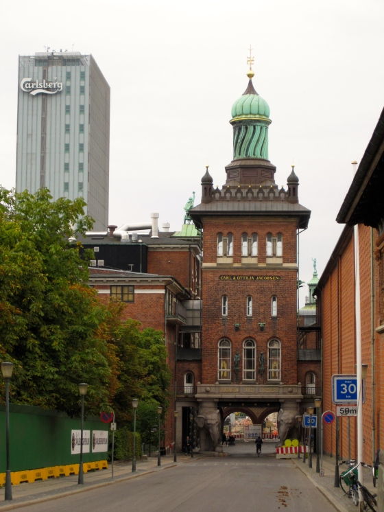 The old Elephant Gate next to the new Carlsberg building