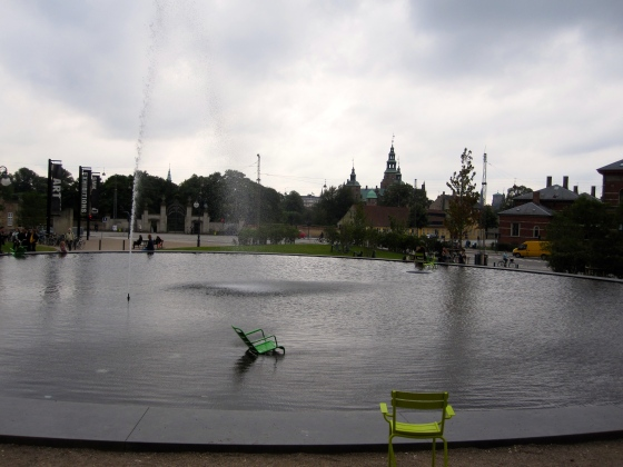 Fountain in front of the museum