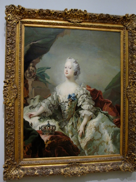 """Louise, Frederik V's First Queen in her Coronation Robes"" Carl Gustaf Pilo 1747"