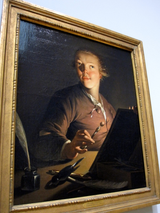 """Self-portrait by Candlelight"" Jens Juel 1764"