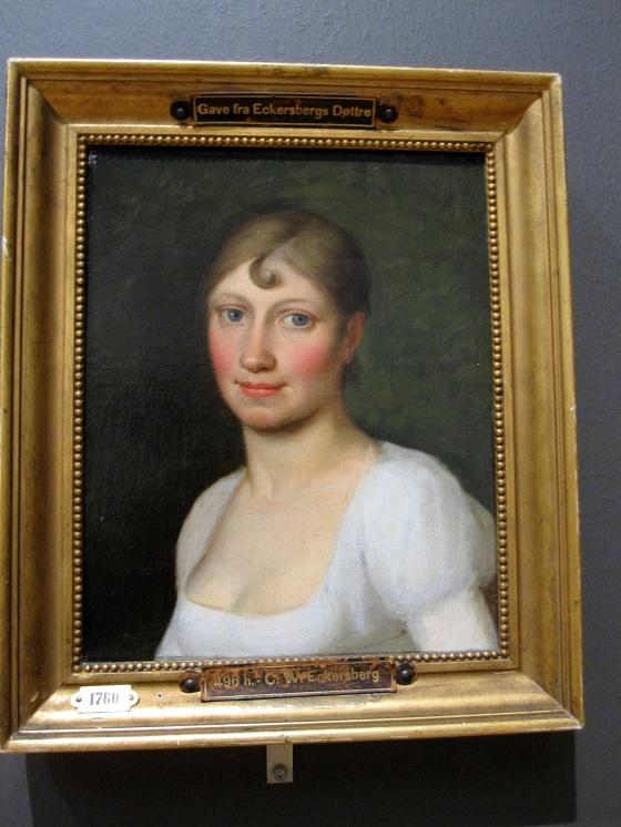 """Christine Rebekka Eckersberg, née Hyssing"" C.W. Eckersberg 1809"