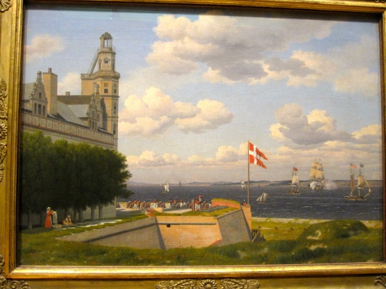 """A View towards the Swedish Coast from the Ramparts of Kronborg Castle"" C.W. Eckersberg 1829"