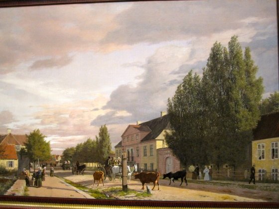 """Morning View of Østerbro outside Copenhagen. Morning Light"" Christen Købke"