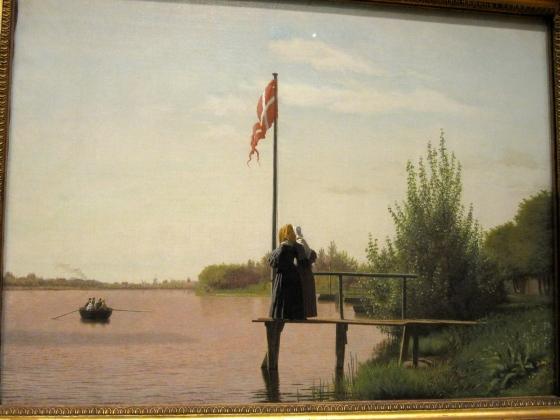 """A View from Dosseringen near the Sortedam Lake Looking Towards Nørrebro"" Christen Købke 1838"