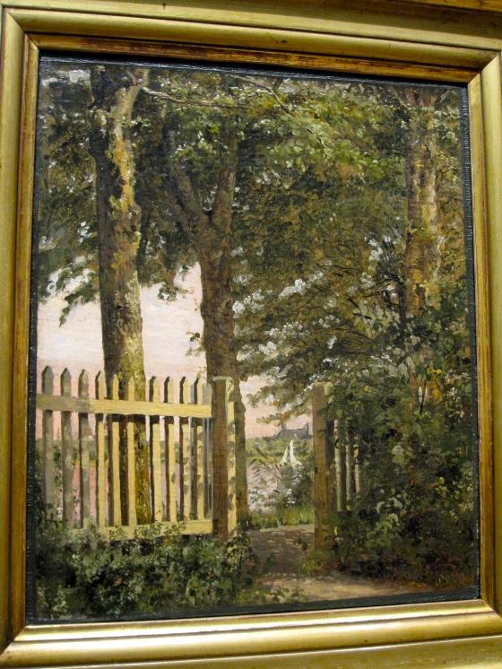 """""""The Garden Gate of the Artist's Home at Blegdammen"""" Christen Købke 1845"""