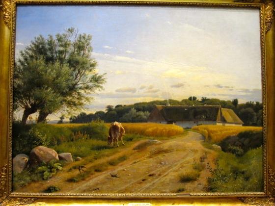 """A Croft at Lodskov near Vognserup Manor, Zealand"" Johan Thomas Lundbye 1847"