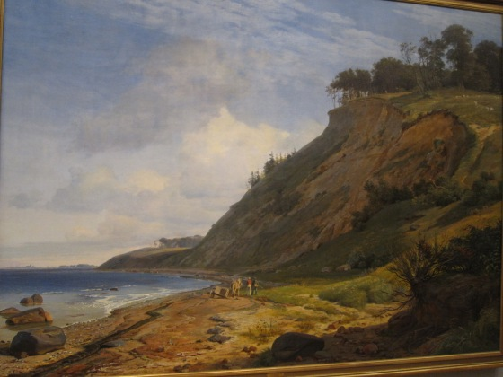 """A Danish Coast. View from Kitnaes on Roskilde Fjord, Zealand"" Johan Thomas Lundbye 1843"