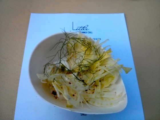 Veggie #1: Fennel Salad with Smoked Burrata and Citrus