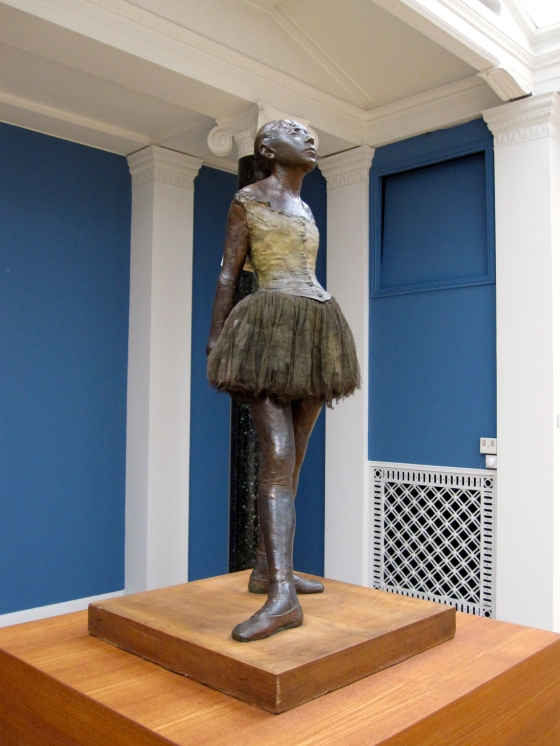 """The Little Fourteen Year-Old Dancer"", the only sculpture Degas ever exhibited (in 1881 at the Sixth Impressionist Exhibition)"