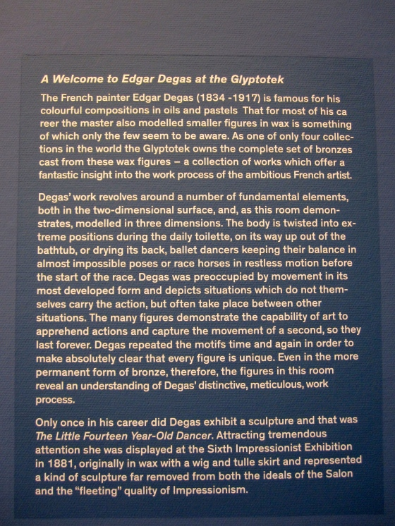 Edgar Degas' Sculptures Exhibition